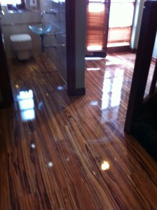High Gloss Zebrano Flooring First Floor