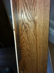 Distressed engineered wood flooring