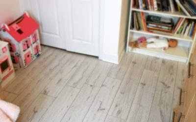 Installing White Laminate Flooring in a Child's Bedroom