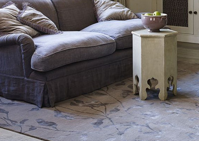 Jacaranda Sea Wheat Grey Hand-Knotted Himalayan Rug
