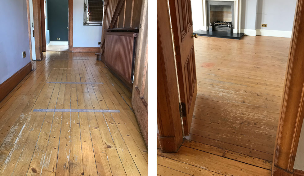 original pine floorboards