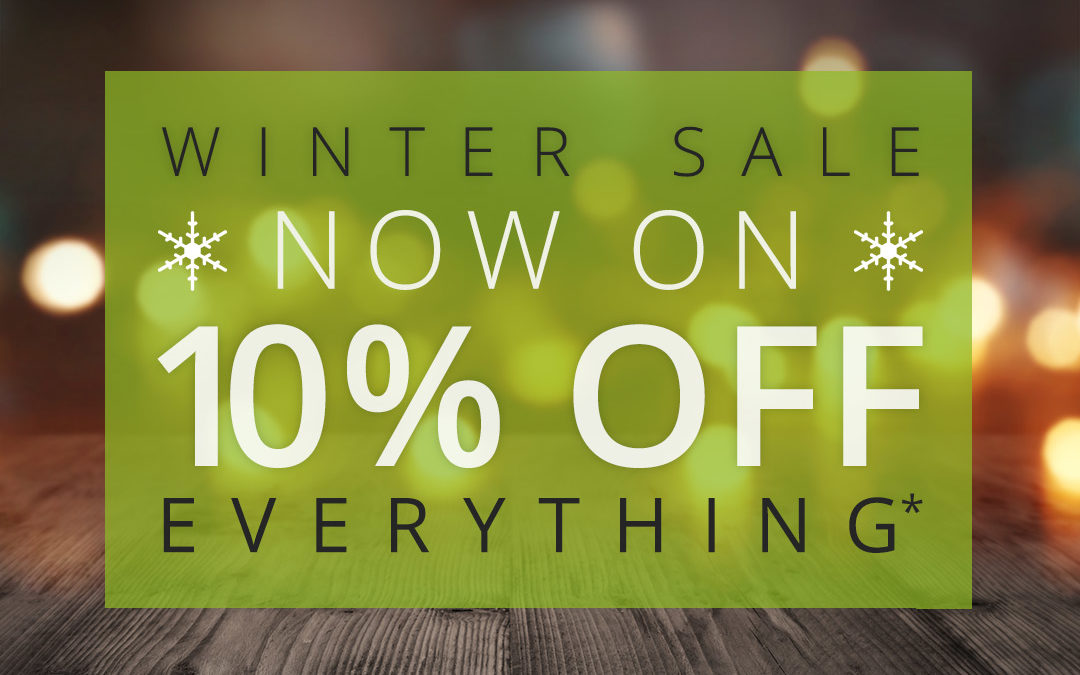 Winter Sale Now On…10% off EVERYTHING!
