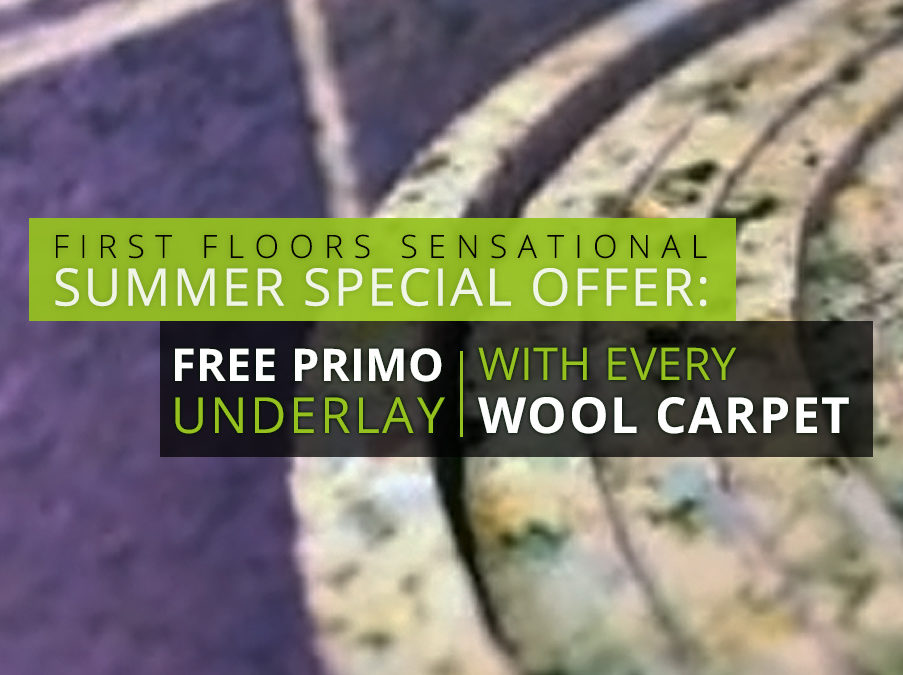 FREE Primo Underlay with Every Wool & Wool Mix Carpet