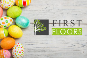 First floors logo with easter eggs