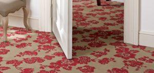 red flowers floor carpet